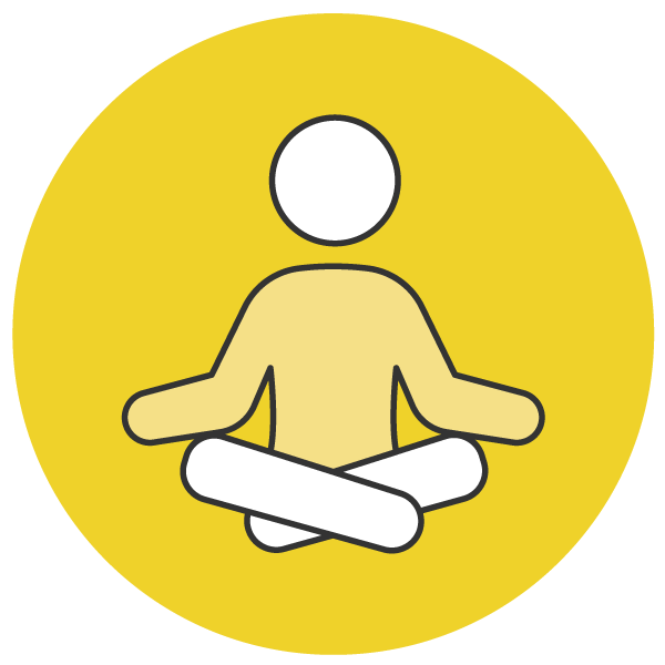 Peaceful, easy teaching icon